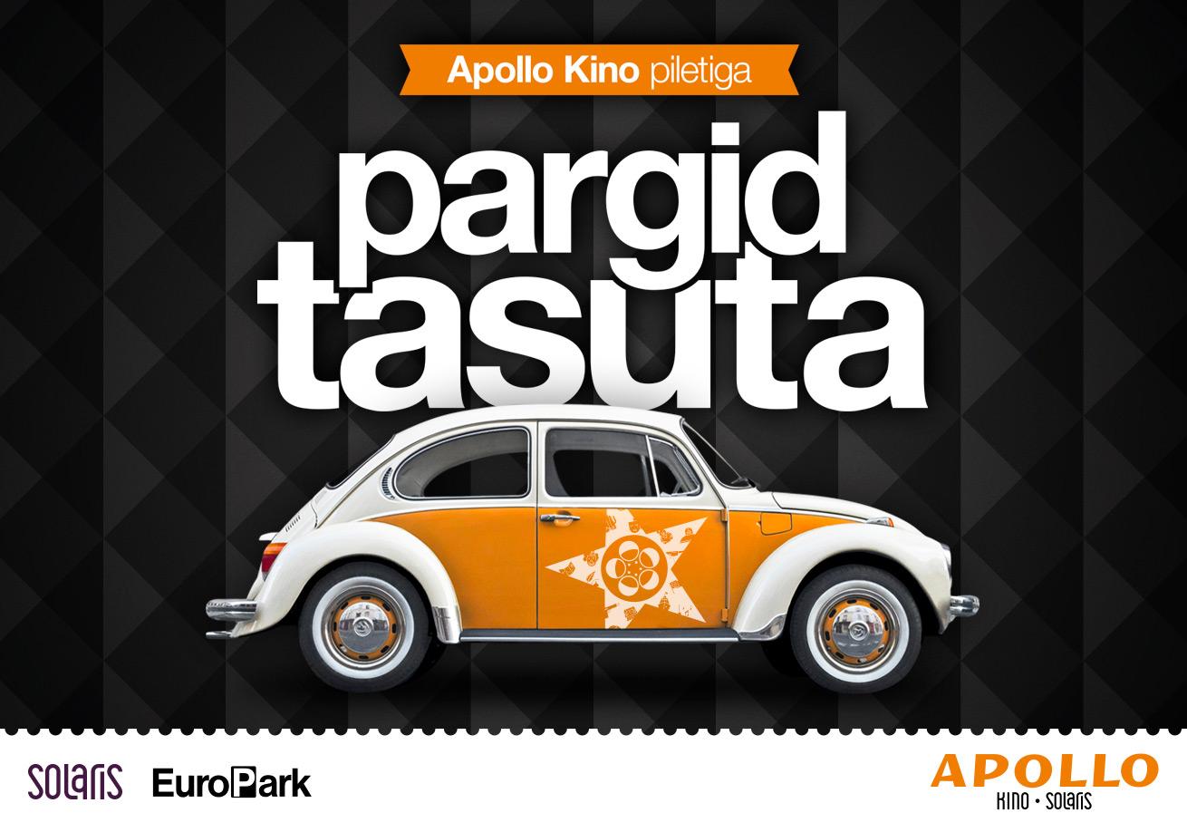 1ad9e3fbd16 Apollo kino piletiga parkimine tasuta